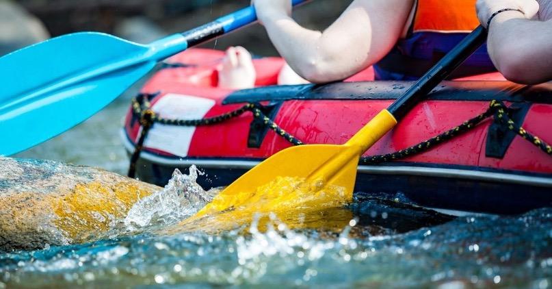 People Rafting in Clear Water, Utah